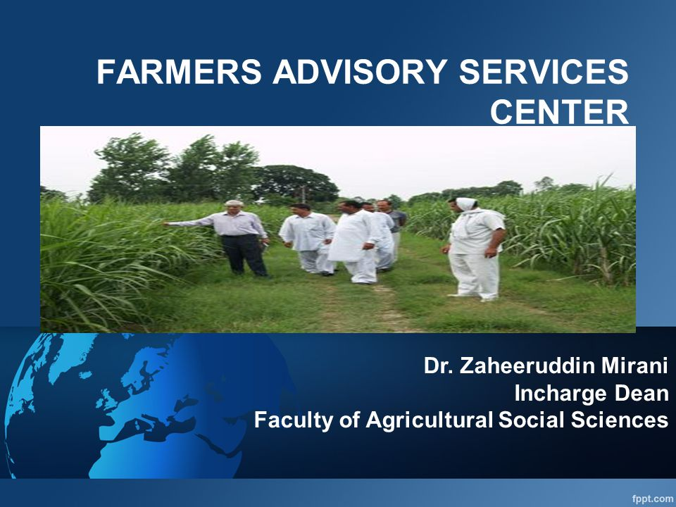 FARMERS ADVISORY SERVICES CENTER Dr.