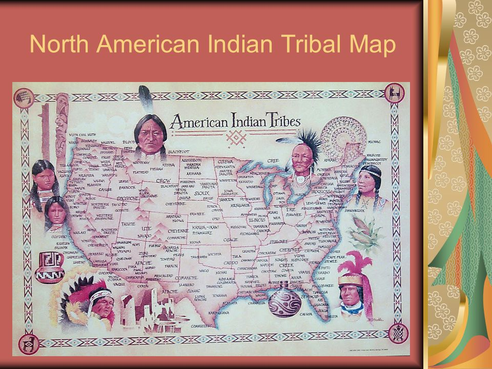 North American Indian Tribal Map