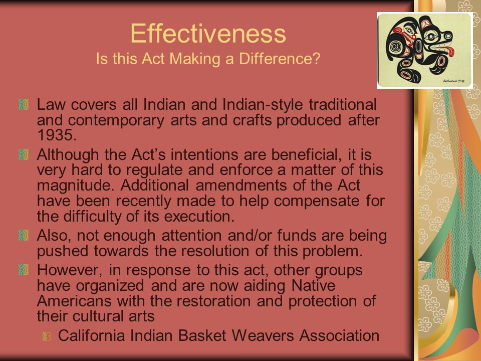 Effectiveness Is this Act Making a Difference.