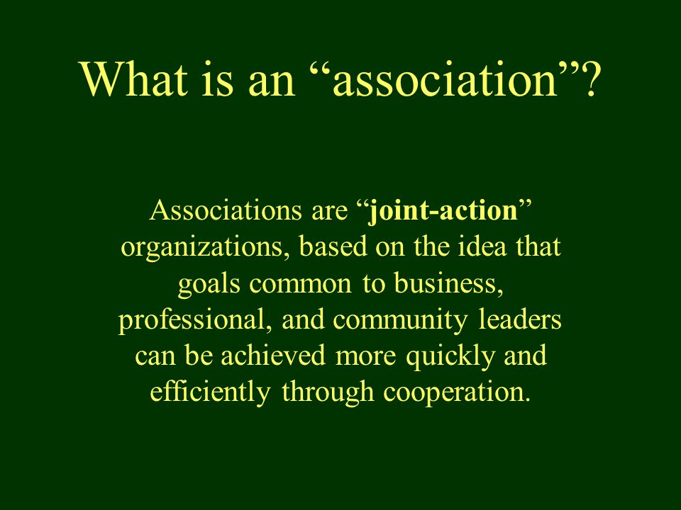What is an association .
