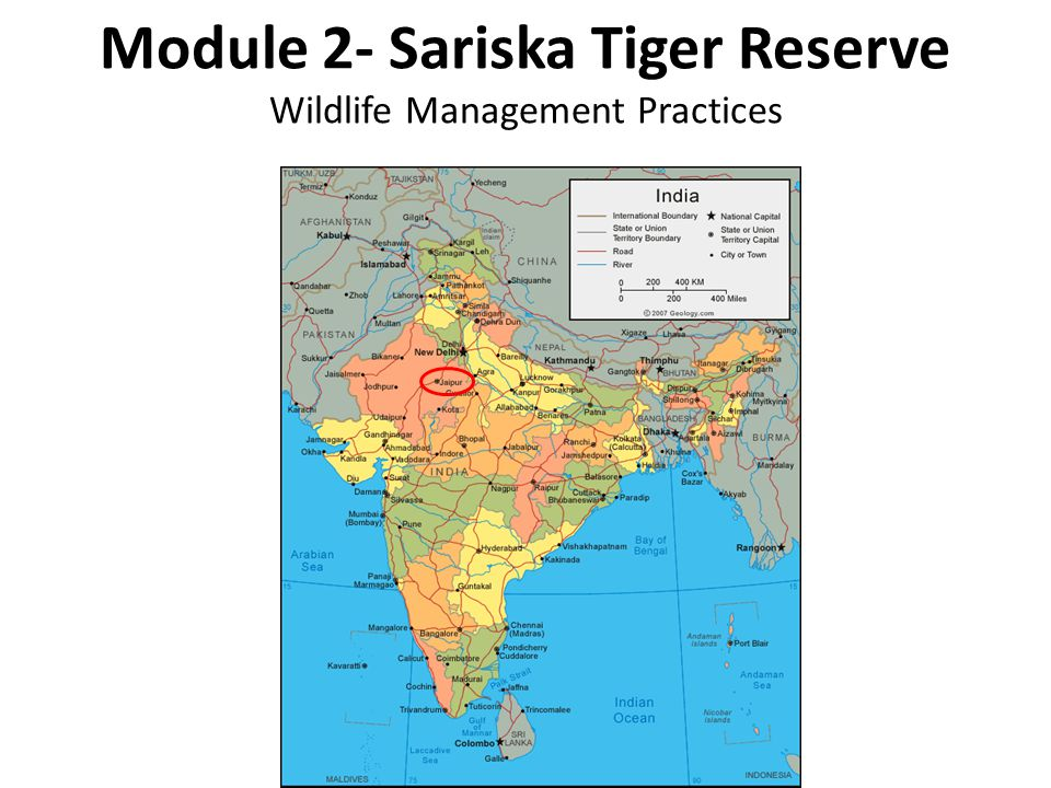 Module 2- Sariska Tiger Reserve Wildlife Management Practices