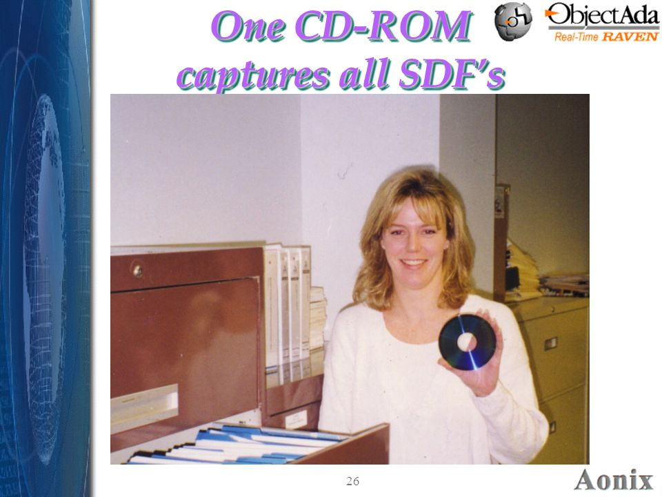 26 One CD-ROM captures all SDF's