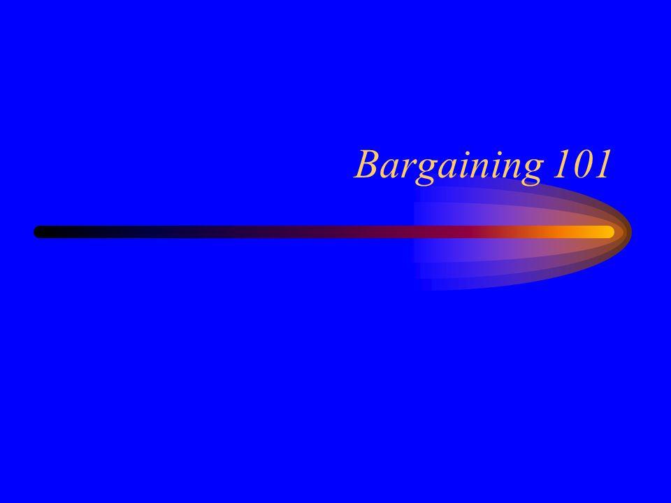 Bargaining 101