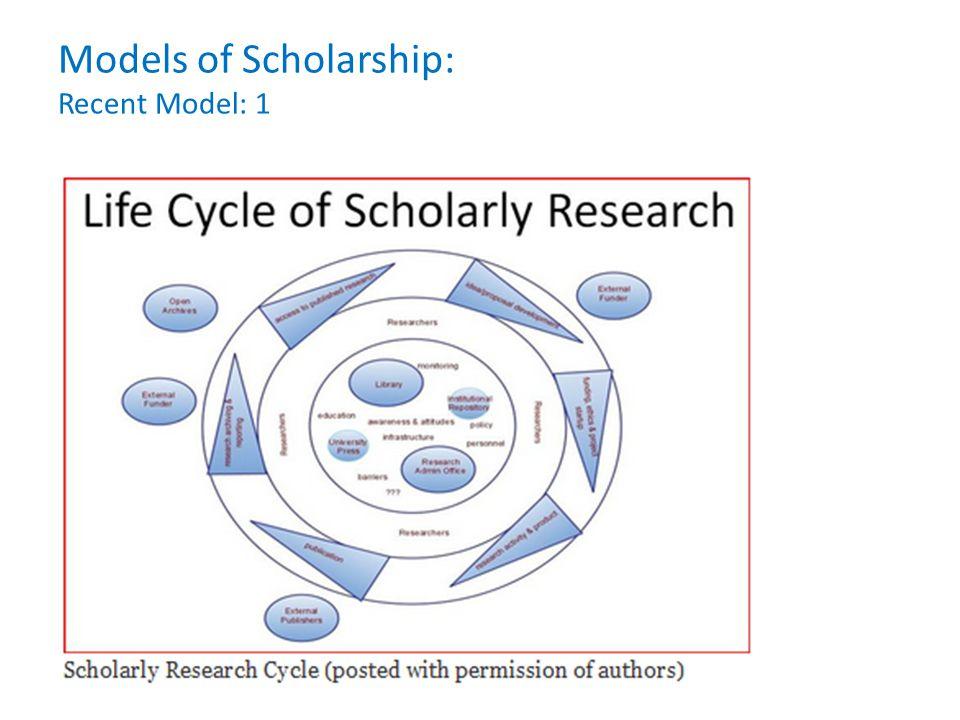 Models of Scholarship: Recent Model: 1
