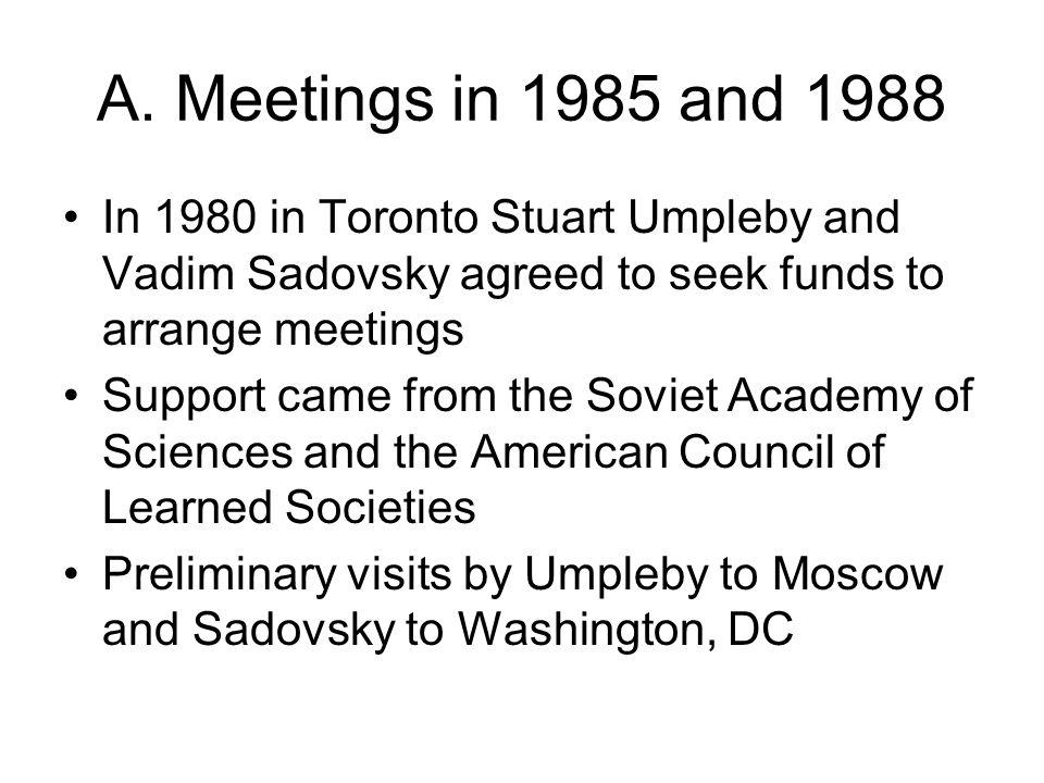 1985 meeting in Washington Epistemology Methodology Management
