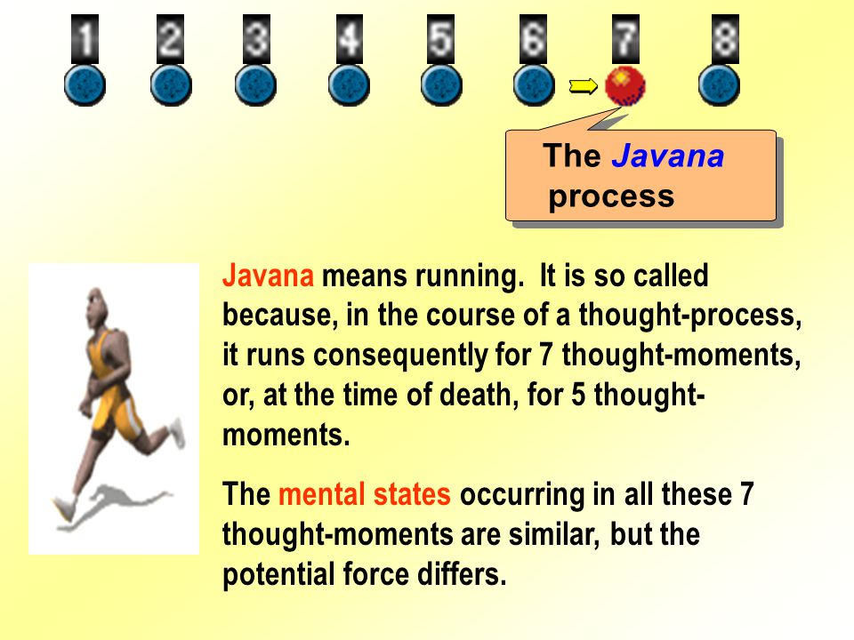 The Javana process Javana means running.
