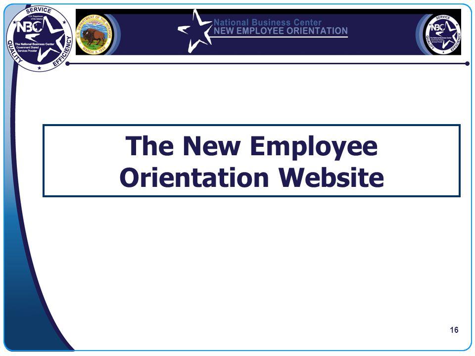 16 The New Employee Orientation Website