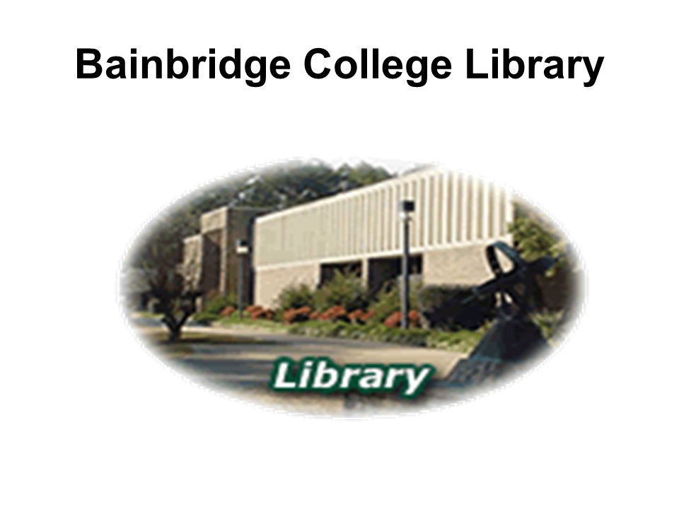 Information about the library Location –The library is located on one side of the Academic Building – Building 200, closest to the Administration building 100 – on the Bainbridge College Campus Collection –The library has a growing collection of over 35,000 books Computers –The library has a computer lab which houses 11 computers with access to the Internet and Microsoft Office.