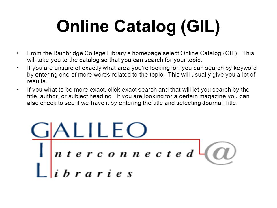 GIL Express GIL Express is an initiative of the University System of Georgia that provides access for our students to the online catalogs of all colleges in the system.