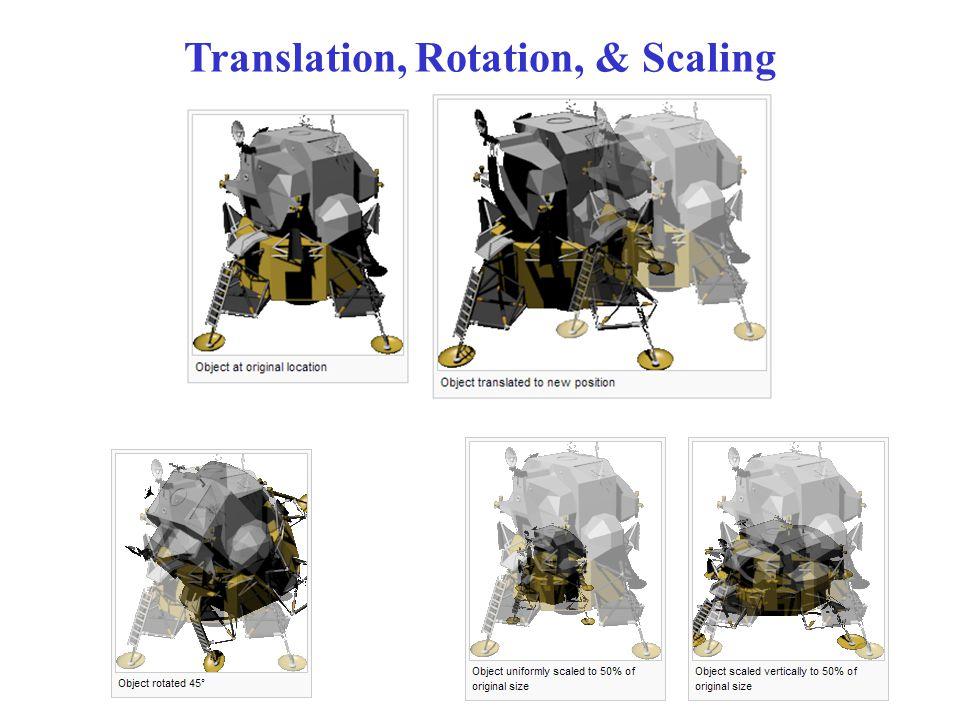 Translation, Rotation, & Scaling