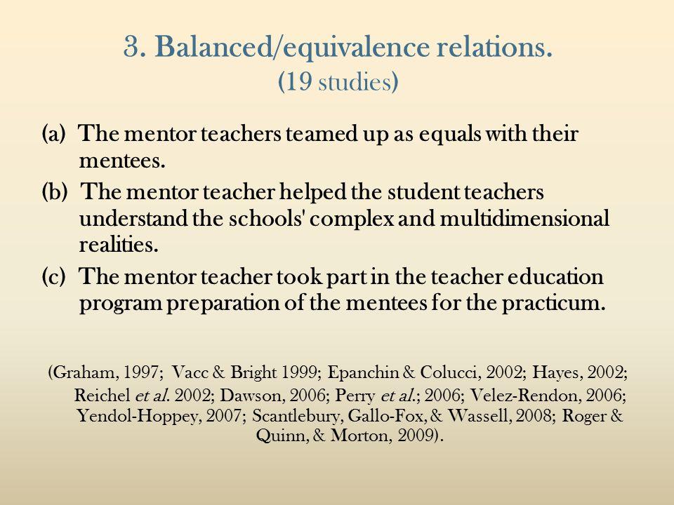 3. Balanced/equivalence relations.