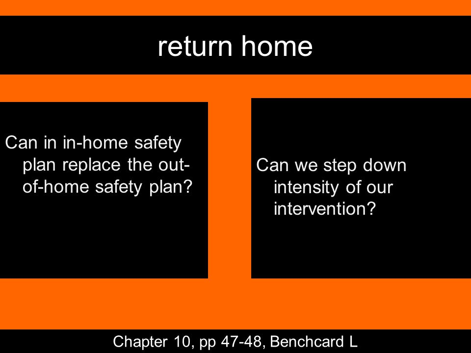return home Can in in-home safety plan replace the out- of-home safety plan.