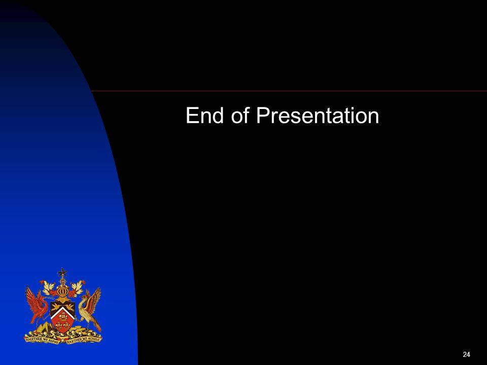 24 End of Presentation