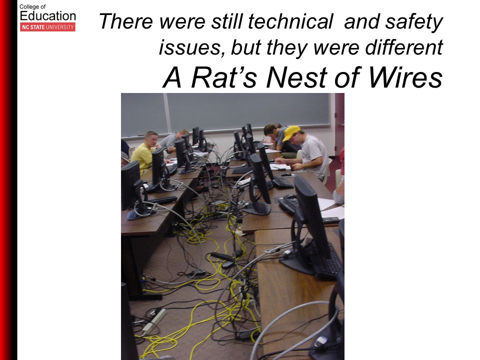 There were still technical and safety issues, but they were different A Rat's Nest of Wires