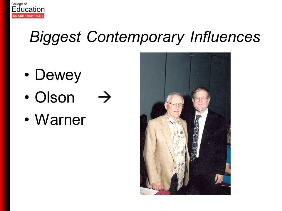 Biggest Contemporary Influences Dewey Olson  Warner