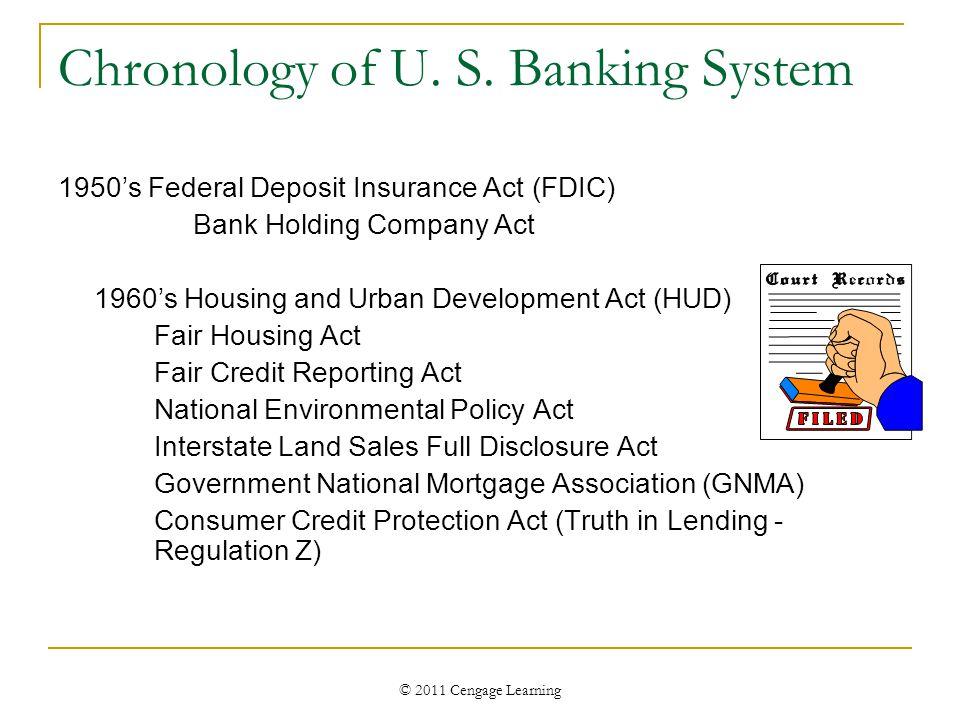 © 2011 Cengage Learning Chronology of U. S.