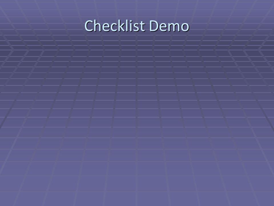 Checklist Demo