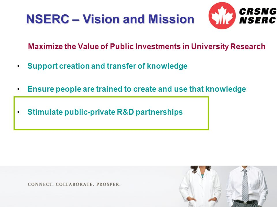 4 Maximize the Value of Public Investments in University Research Support creation and transfer of knowledge Ensure people are trained to create and u