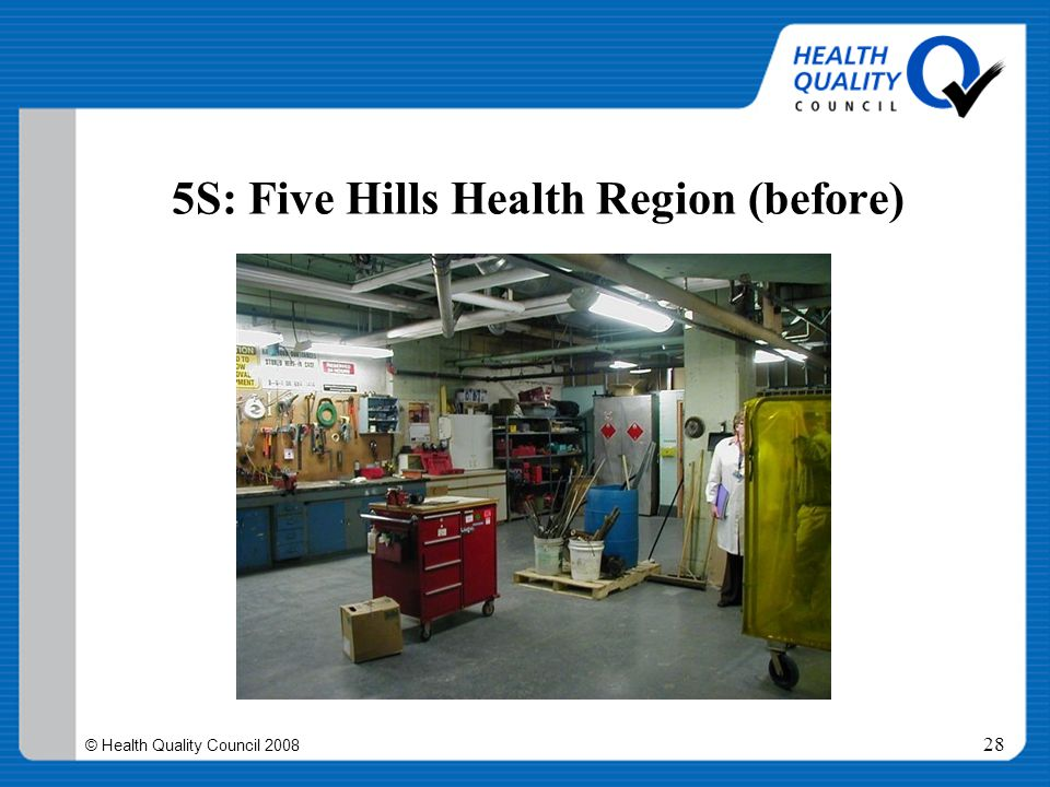 © Health Quality Council 2008 28 5S: Five Hills Health Region (before)