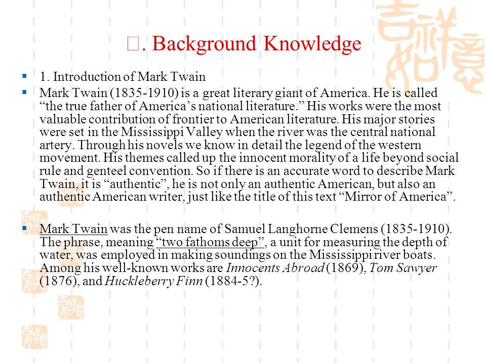 Ⅰ.Background Knowledge  1.