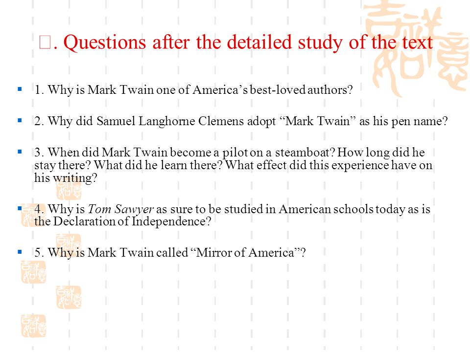 Ⅱ.Questions after the detailed study of the text  1.