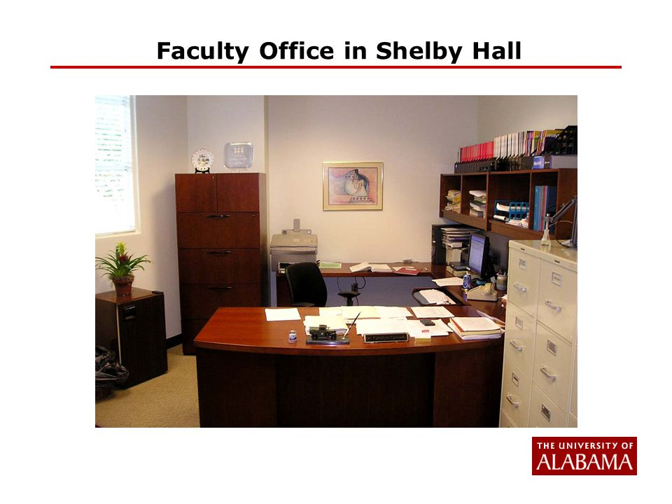 Faculty Office in Shelby Hall
