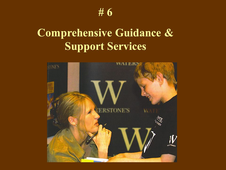 # 6 Comprehensive Guidance & Support Services