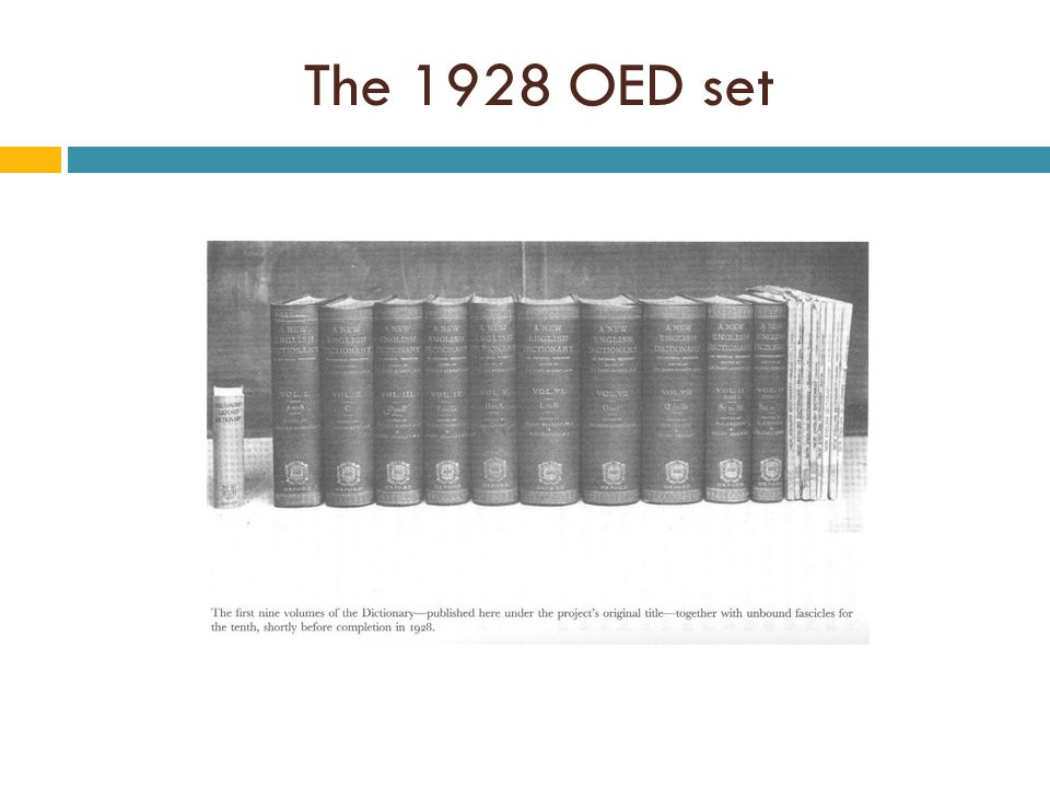The 1928 OED set