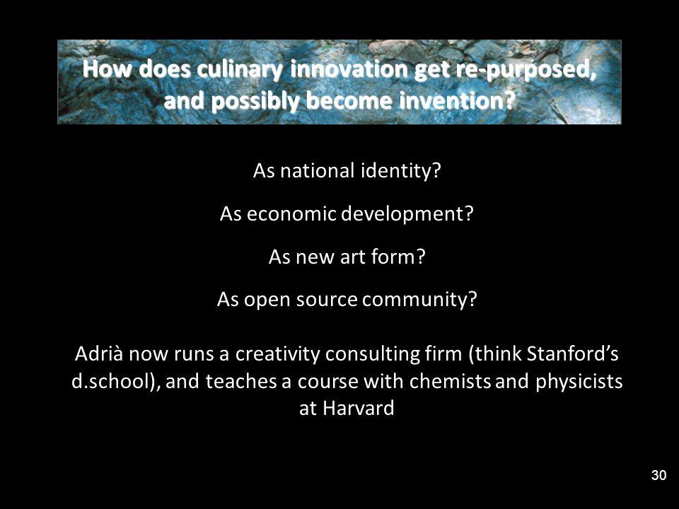 As national identity. As economic development. As new art form.