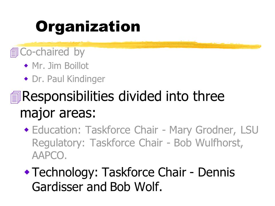 Organization 4Co-chaired by  Mr. Jim Boillot  Dr.