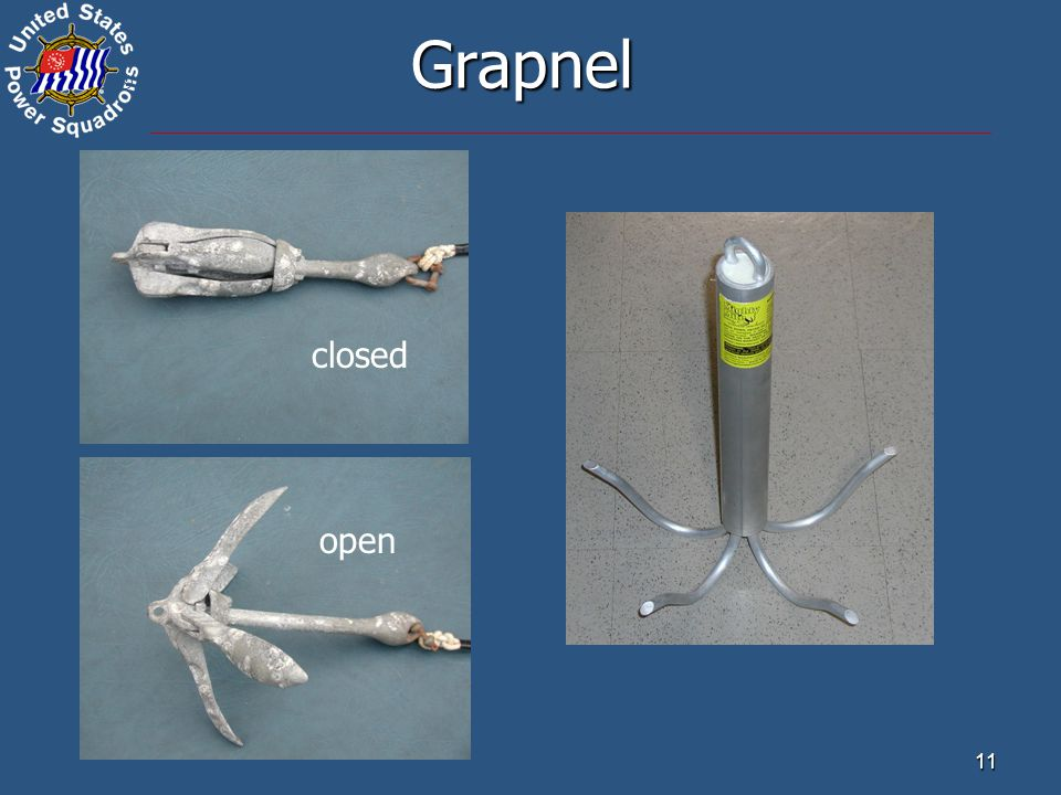 ® 11 Grapnel closed open