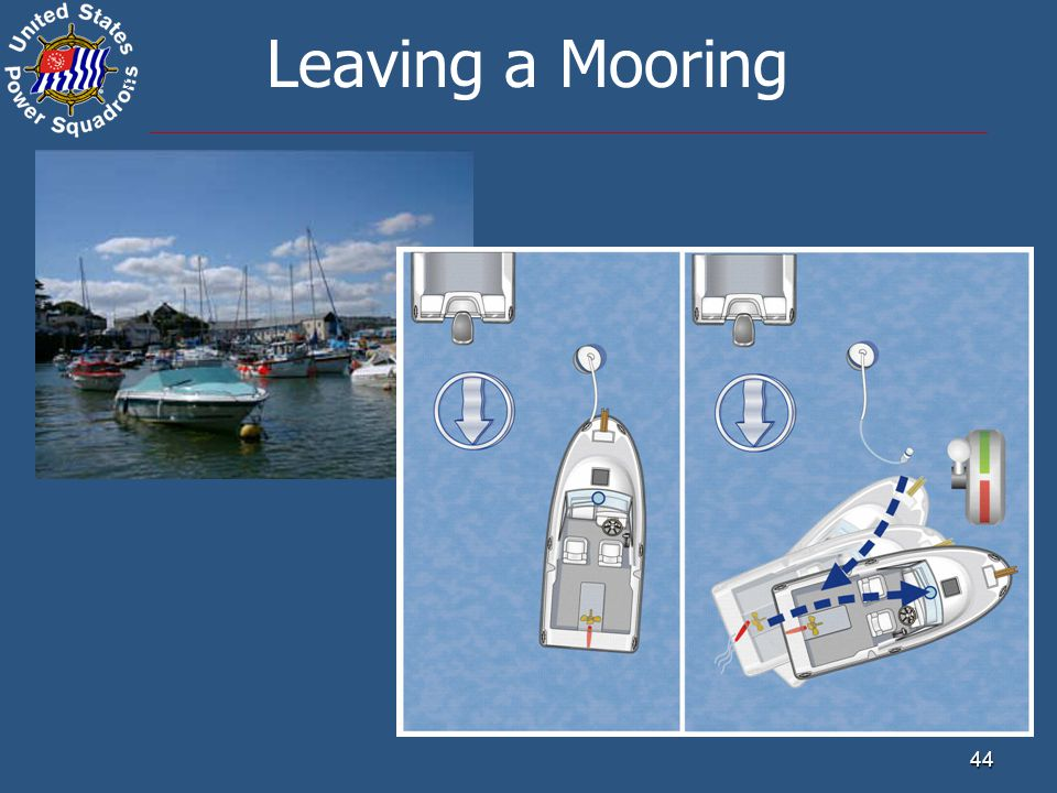 ® 44 Leaving a Mooring