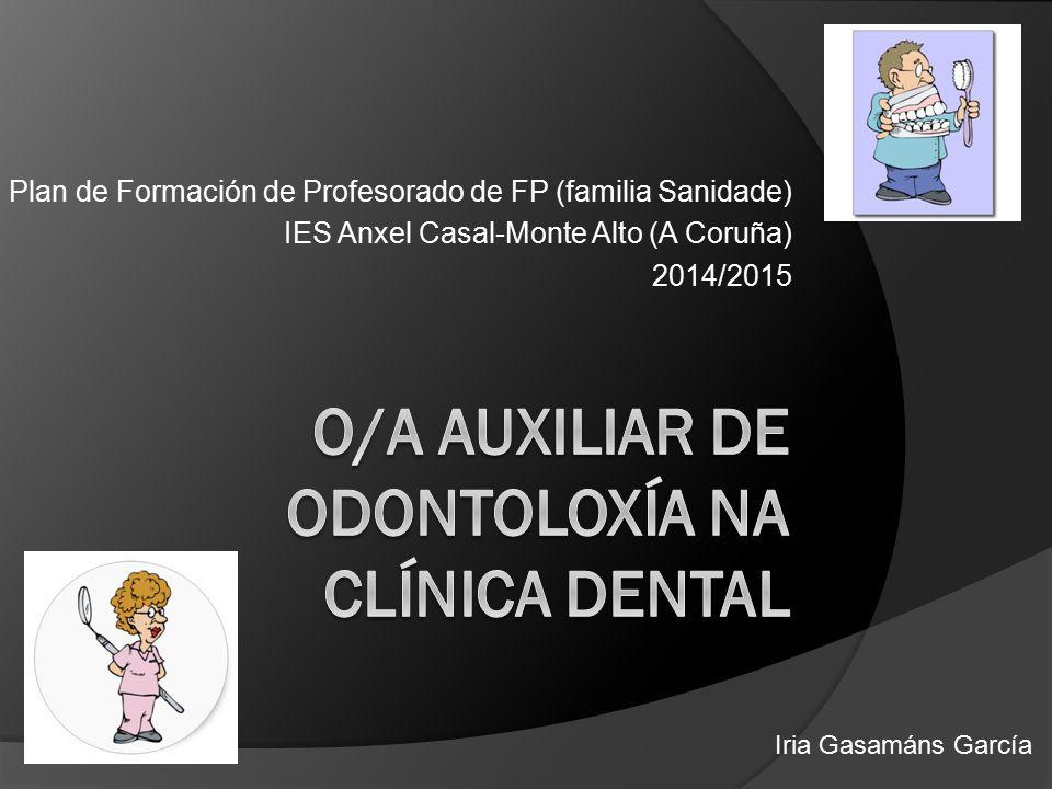 Plan de Formación de Profesorado de FP (familia Sanidade) IES Anxel Casal-Monte Alto (A Coruña) 2014/2015 Iria Gasamáns García