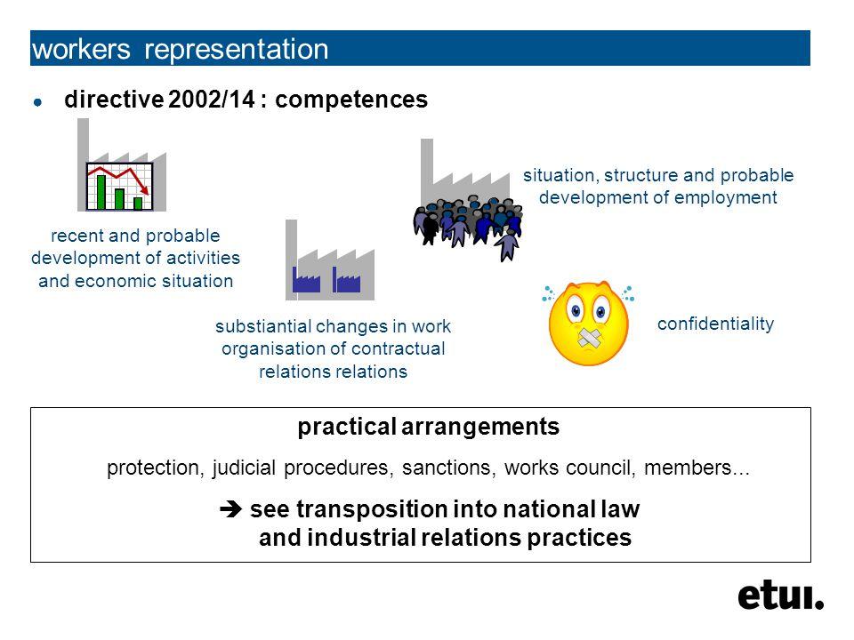workers representation works council comité d'entreprise Betriebsrat