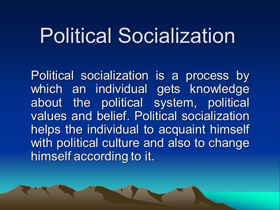 Characteristics of Political Socialization It is a process.