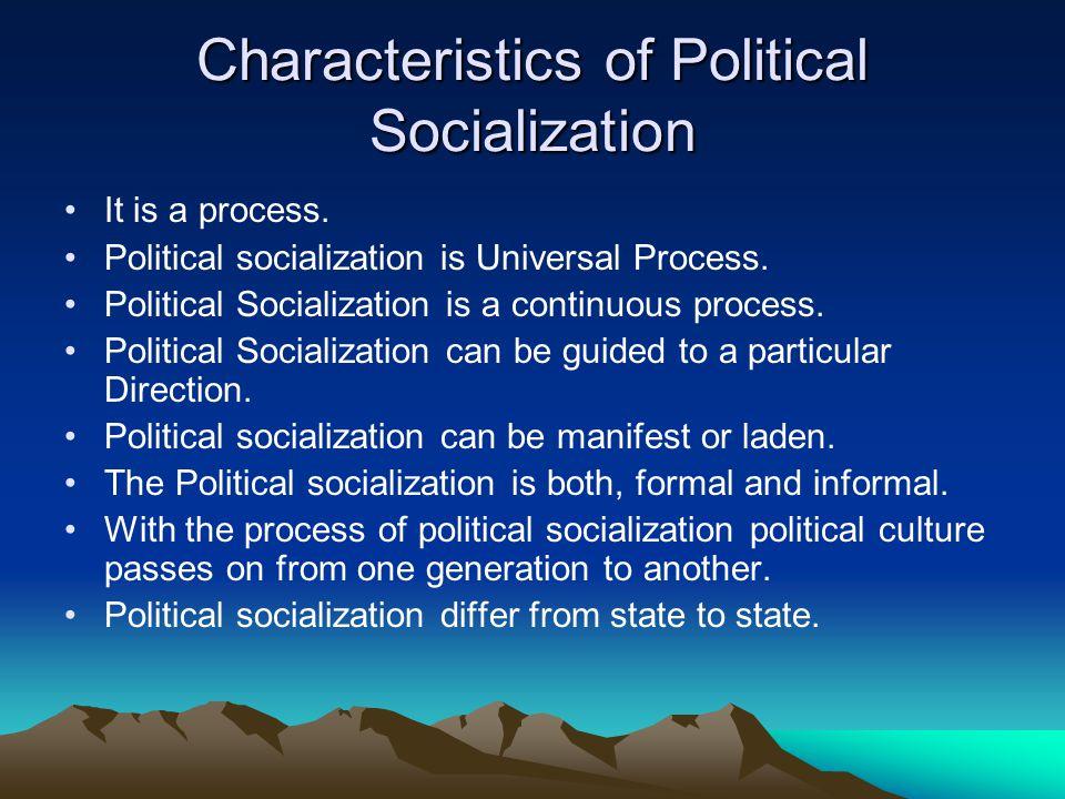 Types of Political Socialization Direct Political Socialization Hidden Political Socialization Primitive Political socialization Modern Political socialization