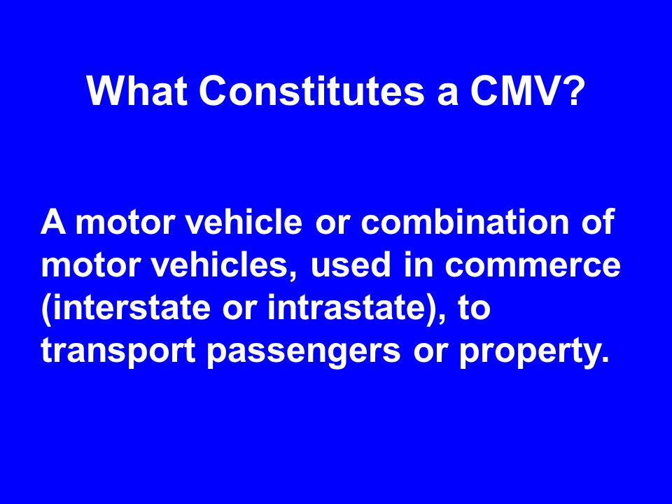 Prior to the CMV Safety Act: 18 States did not issue CDLs Only 12 of 32 States that did license CDLs required skills testing Drivers were able to hide bad driving records by spreading convictions among several states No national information network to check driver license status or driving history.
