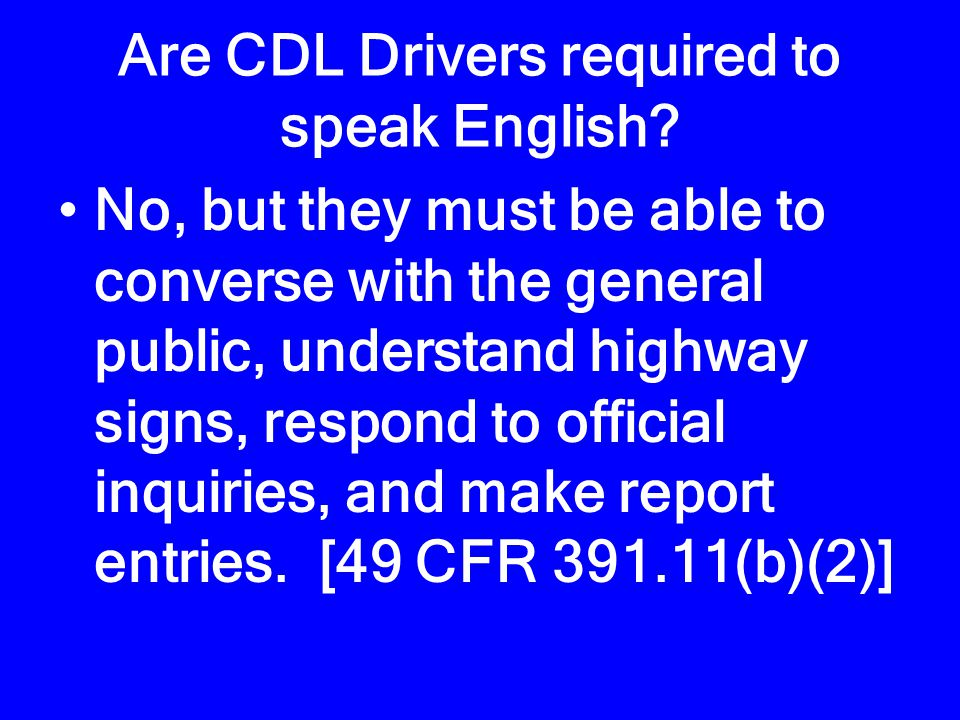 May DMV issue a hardship CDL No. [49 CFR § 384.210] Going to / from work = the whole country