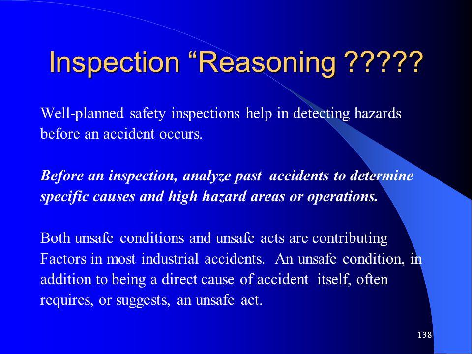138 Inspection Reasoning ????.