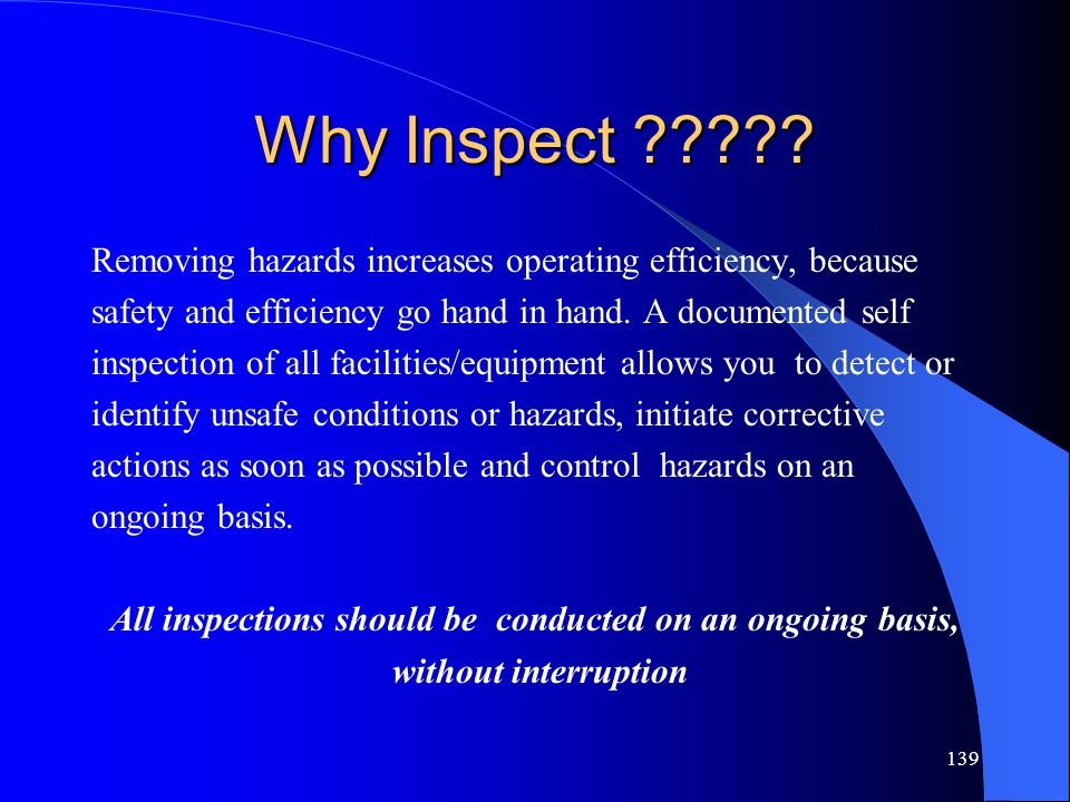 139 Why Inspect ????.