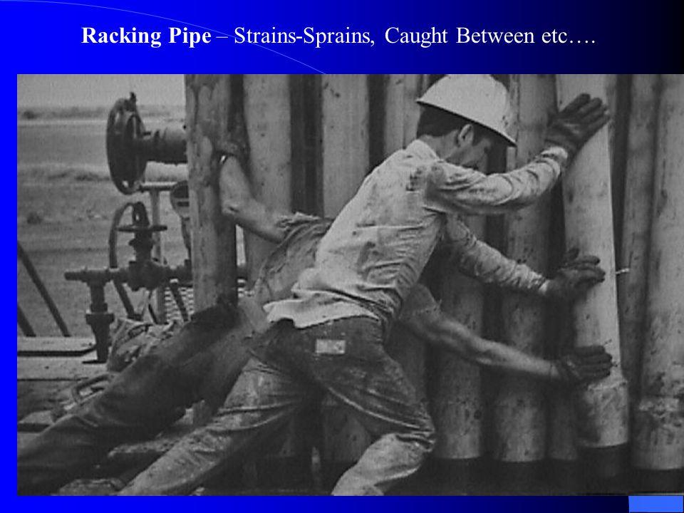 195 Racking Pipe – Strains-Sprains, Caught Between etc….