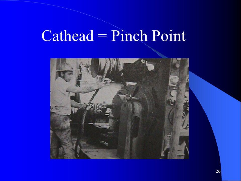 26 Cathead = Pinch Point