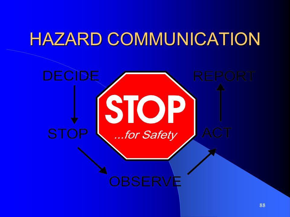 88 HAZARD COMMUNICATION