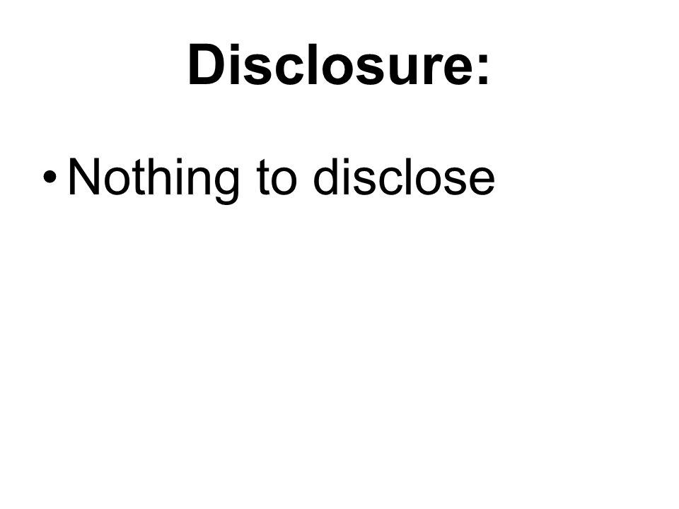 Disclosure: Nothing to disclose