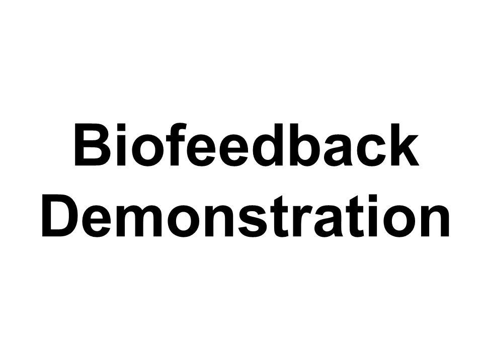 Biofeedback Demonstration