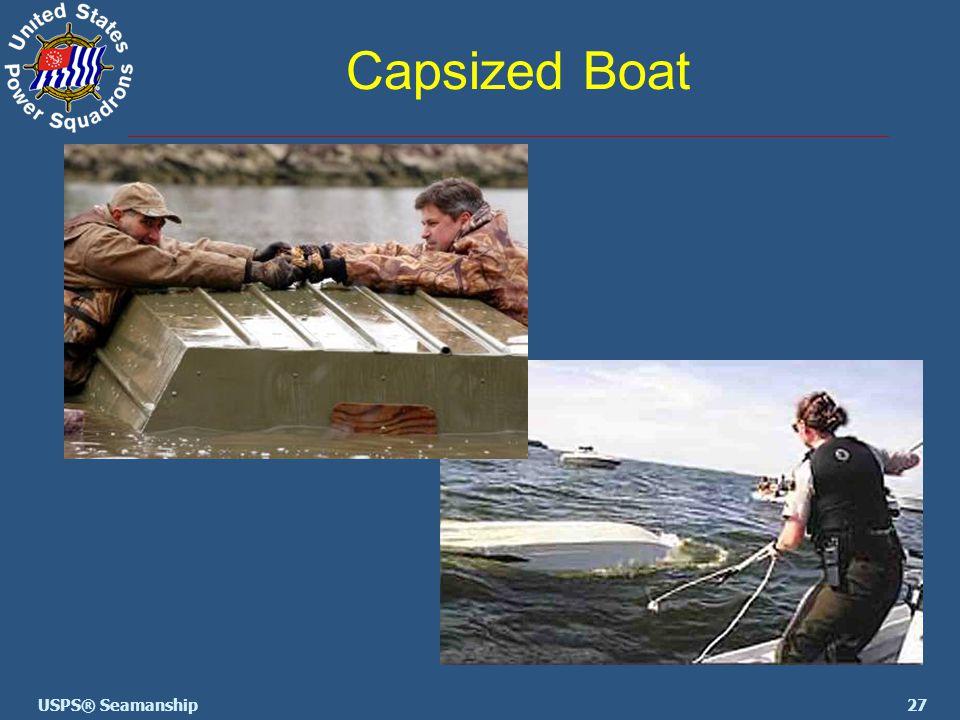 27USPS® Seamanship Capsized Boat