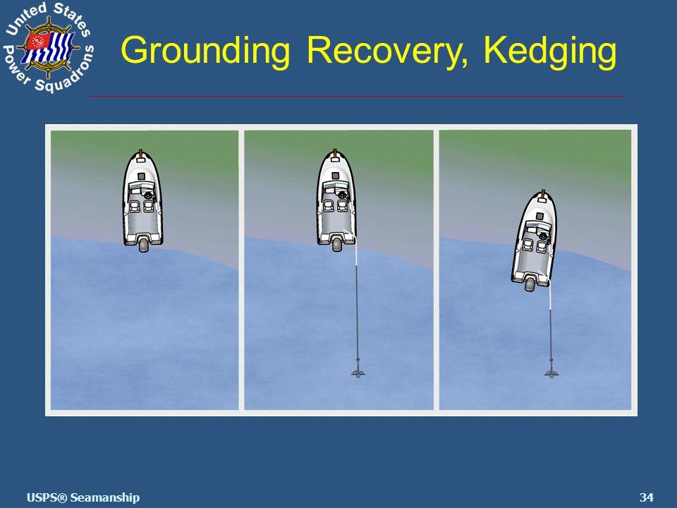 34USPS® Seamanship Grounding Recovery, Kedging