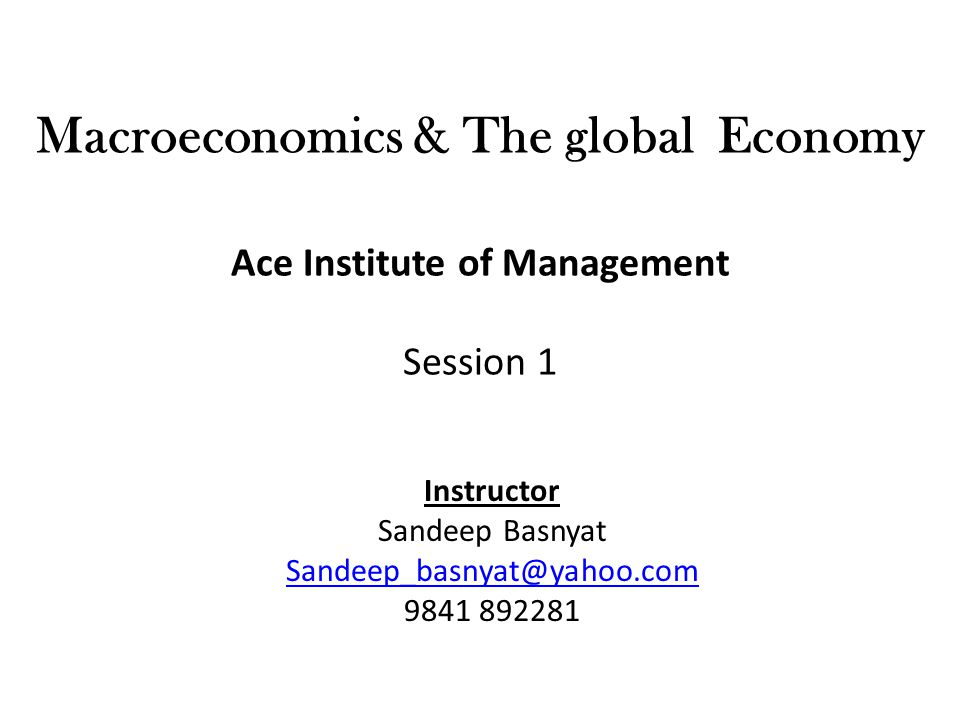 Objectives To acquaint students with basic knowledge of macroeconomic theories Define, explain and analyze macroeconomic terms, theories and indicators in general Apply learning in decision making processes and solve real world issues Use and explain the macroeconomic and developmental problems in a country