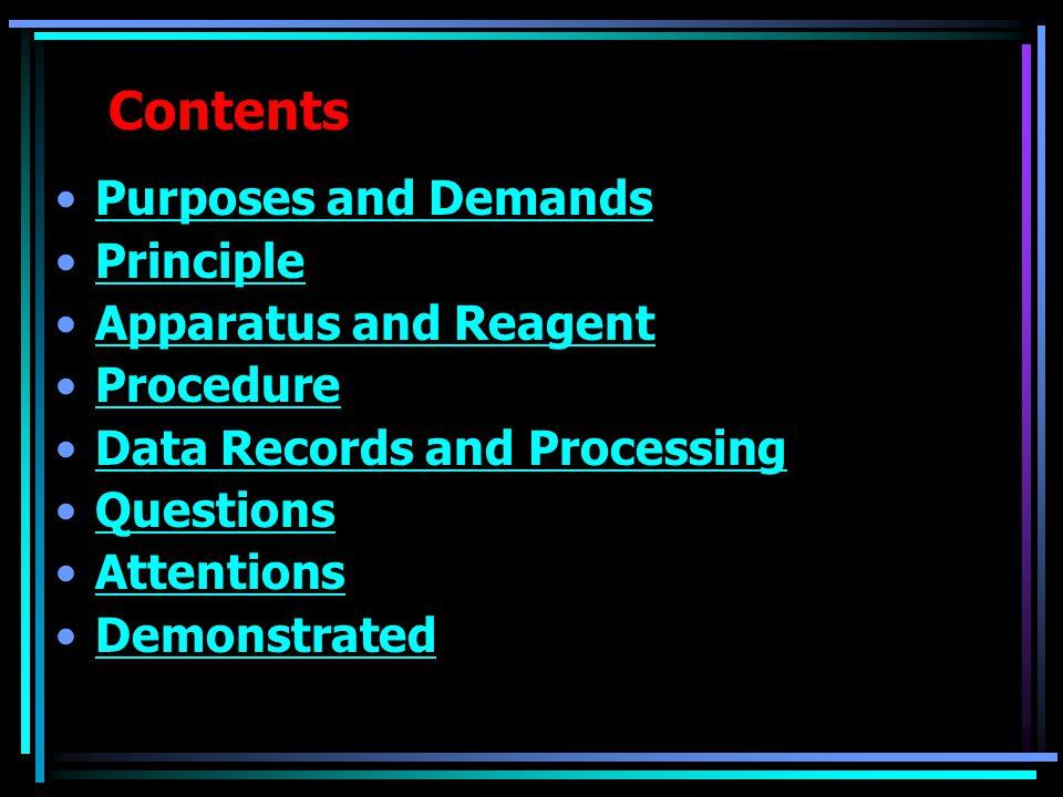 Purposes and Demands  Understand vapor pressure of a pure liquid and gas-liquid equilibrium.