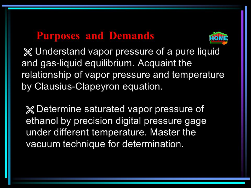 3.Did the method can be used on determining solution ' s vapor pressure.